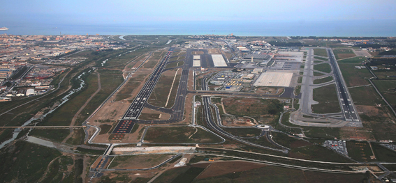 malaga luchthaven luchtfoto